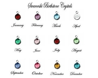 Only for sale with purchase from Jewles Designs Swarovski Crystal Birthstone