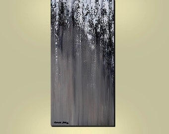 ABSTRACT ORIGINAL Painting  Large Verticle 48x24 Modern Gallery Wrap Canvas  By Thomas John