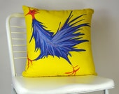 Blue Rooster Pillow