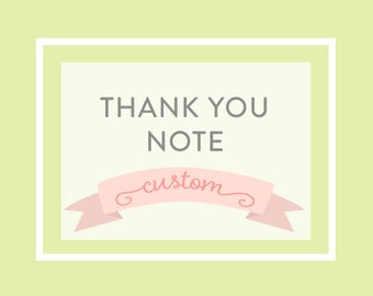PERSONALIZED THANK YOU Note - Printable file, a la carte
