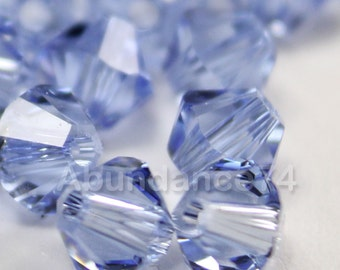 Swarovski Bicone Crystal Beads Xilion 5328 LIGHT SAPPHIRE - Available in 3mm, 4mm, 5mm and 6mm
