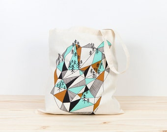 Flowers Tote bag screen printed canvas Tote bag organic