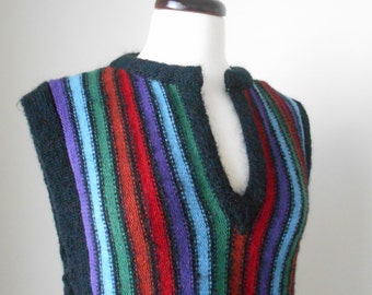 70s Wool Sweater Vest, Ladies