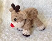 Crochet Amigurumi Reindeer, Stuffed Reindeer, Christmas Animal, Amigurumi Woodland Animal, Crochet Reindeer, Reindeer Plushie, Toy Reindeer
