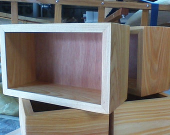 Set of 4 Small Open Top Wooden Boxes