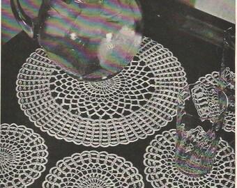 Crochet Pattern, Crochet Doily Pattern, Crochet Coasters Pattern, Instant Download, Downloadable Patterns vintage pattern