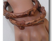 Twiggy Polymer Bracelets, Rustic Branches Bracelets, Woodland Style Polymer Bangle Bracelets, Out Of Time Designs