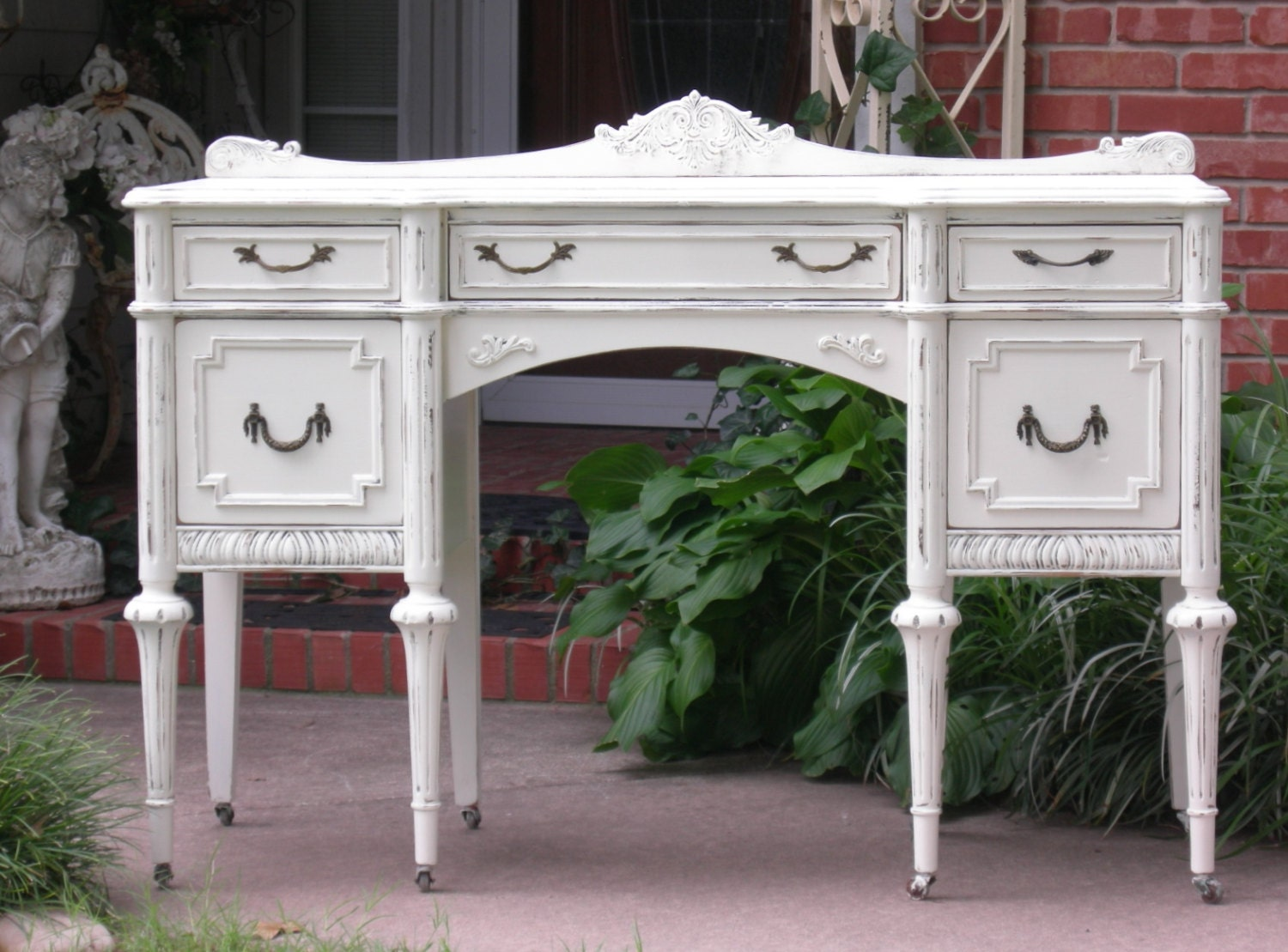 CUSTOM DESK Order Your Own Shabby Chic Antique Furniture Hand Painted  Reclaimed Restored Home Office Writing Table Bedroom Entry Console - CUSTOM DESK Order Your Own Shabby Chic Antique Furniture Hand