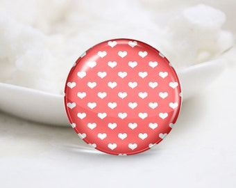 10mm 12mm 14mm 16mm 18mm 20mm 25mm 30mm Handmade Round Photo Glass Cabochon-Heart (P1453)