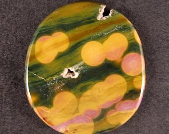 Kabamby Ocean Jasper Medallion Cab / Cabochon  ETOJ341