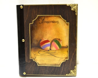 Original artwork, victorian photos, wood top, mini albums, top toys, custom photo album, baby keepsake book, spinning top toys, rustic album