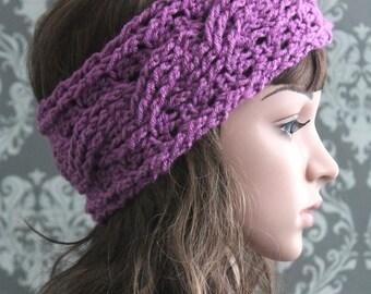 Crochet PATTERN - Crochet Headband Pattern - Cable Headband Pattern - Crochet Pattern Headband - Baby, Toddler, Child, Adult Sizes- PDF 402