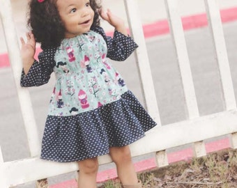 Baby Malyn's Pretty Peasant Dress PDF Pattern size newborn to 18-24 months