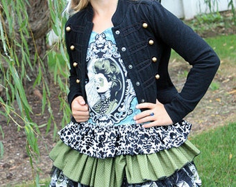 Stacy's Tween Sassy Ruffle Skirt PDF Pattern Sizes 7/8 to 15/16 girls