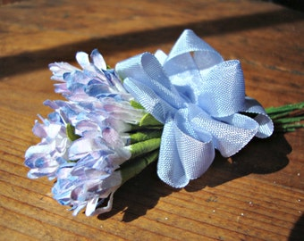 Cornflower Blue and Lavender Wildflower Posy
