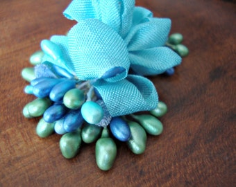 Mermaid Blue and Green Millinery Stamen Bundle