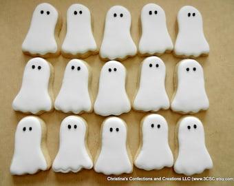Little Ghost Halloween decorated sugar cookies (#2499)