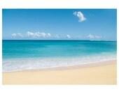 Hawaii photography - beach photograph - Hawaii Kauai Tunnels beach photograph - beach sand turquoise water - tropical beach photograph