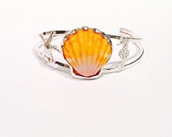 Sunrise shell cuff