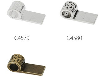 50PCS 8x20mm  High Quality Glue On Bails Charms/Pendants