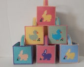 Plastic Canvas Easter Baskets, Set of 6 and 3 handles