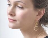 Dangle Earrings, Gold Earrings