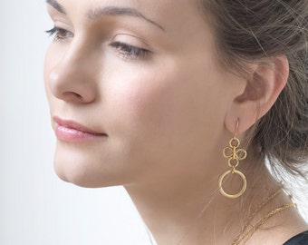 Dangle Earrings, Gold Earrings