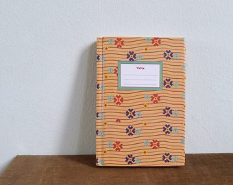 Vintage 80's Japanese Waves Retro Geometric Print Hard Cover Notebook