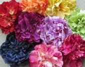 Silk Peony Hair Flower Clip & Pin - 9 Color Choices!