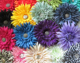 Daisy Hair Flower Clip & Pin - 28 Colors/Styles!