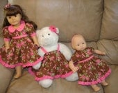 ON SALE/Breast Cancer Awareness dresses for your dolls