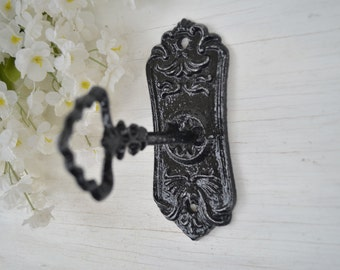 Key Hook, Curtain Tie Back, Cast iron Hook,Ornate Wall Hook,Curtain Hardware