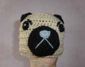 pug beanie/hat for newborn baby