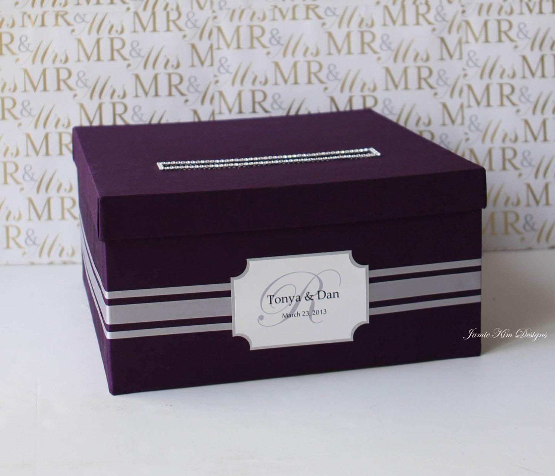 Elegant Wedding Gift Card Box : Elegant Wedding Card Box Money Box Card Holder Custom Made to