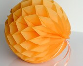 GOLDENROD honeycomb ball - various sizes - pompoms party decorations- hanging decoration