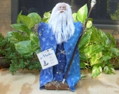 Merlin The Great Wizard LG Moss Doll Clay Head