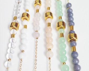 Pastel short necklaces