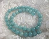 Round Brazilian Aquamarine Gemstone Beads 10MM