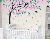 Cherry blossom  tree decals baby nursery wall decals wall sticker wall decor wall art- Cherry Blossom Tree
