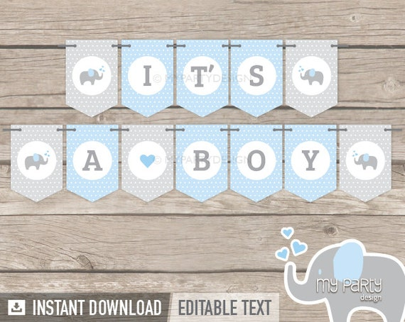 Current image throughout free printable baby shower banner