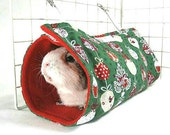 Festive Green Baubles Tunnel Tent (red inside)
