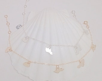 Hawaiian Charms Bracelet or Anklet