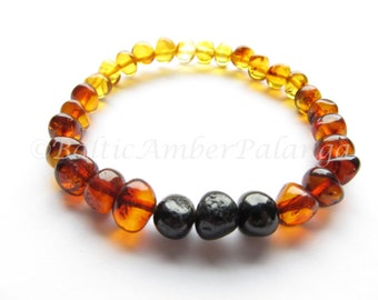 Rainbow Color Baltic Amber Bracelet