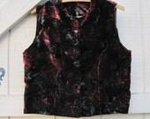 velvet vest, floral velvet vest, embossed velvet vest, Holiday Christmas New years, winter vest,upcycled clothing