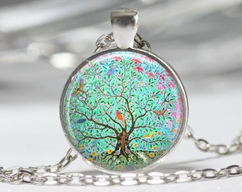 Tree Necklace Tree Pendant Wearabel Art Tree of Life Jewelry