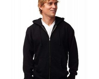 Men's Zip Hoody - Any Design in Our Shop on a Hoody with Custom Colors - S M L XL 2x - Zip-Up Hoodie Sweatshirt