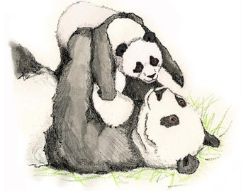 Panda Nursery Art Instant Download