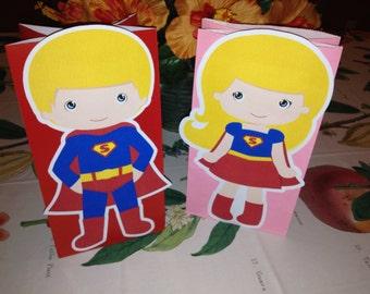 Cute Little Kids Dressed as Superheros goody bags