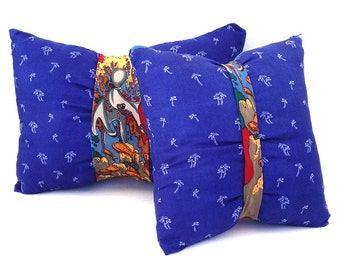 Coastal pillows + tie pillows = unique throw pillows, blue throw pillows for couch