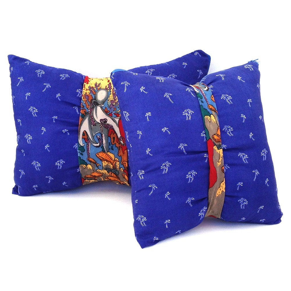 Unique Decorative Pillows For Couch : Coastal pillows tie pillows unique throw pillows blue